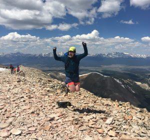 Diana Sinton on Mt. Sherman, Colorado