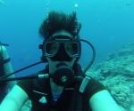"an underwater ""selfie"""