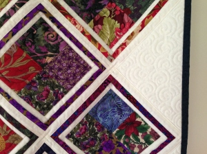 Barbara's Magic, detail. Quilting done by Angie Roux.