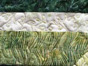 Quilting detail from Three Volcanoes, Including Napoleon's